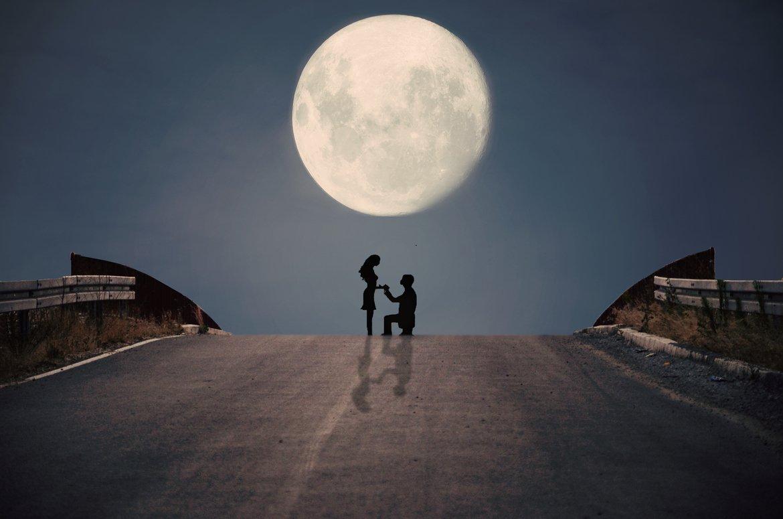 Действие ритуалов приворота на растущую Луну