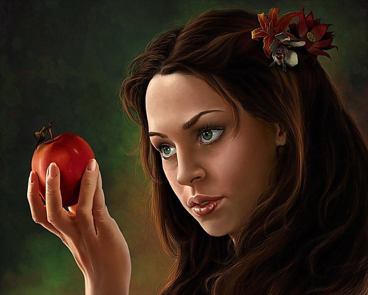 Любовный приворот с яблоком на икону