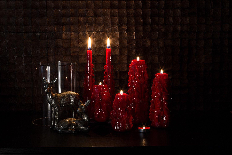 Остуда на себя с помощью обряда с красными свечами
