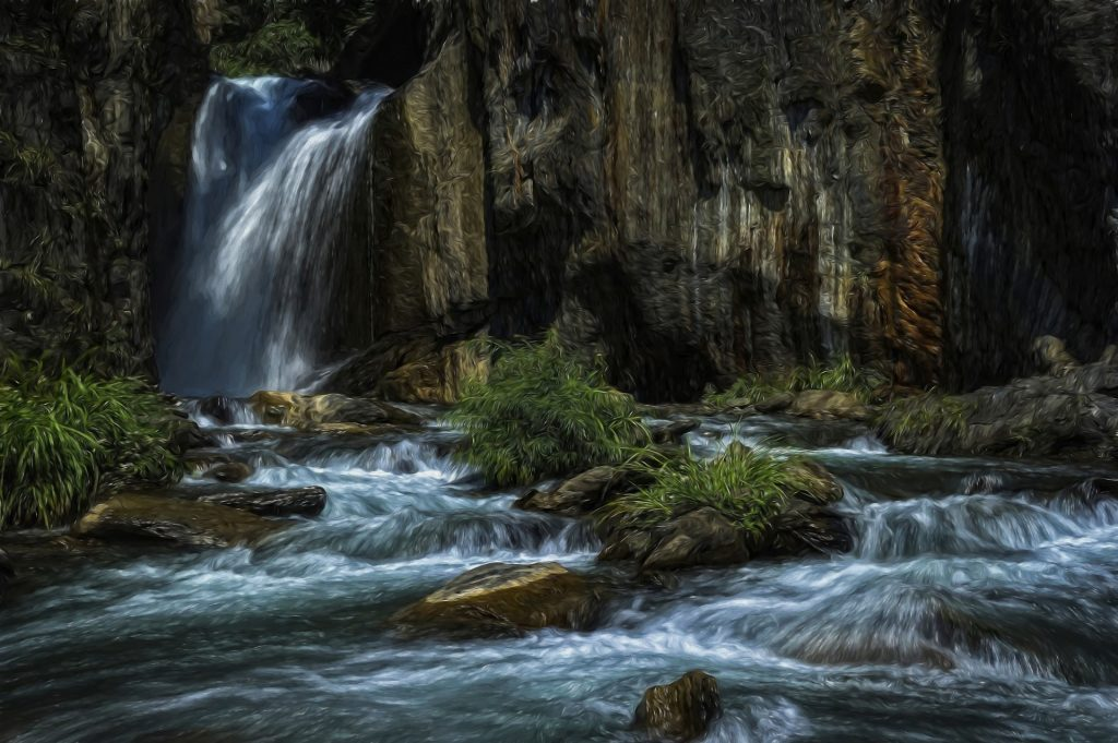 картина водопад для украшения интерьера
